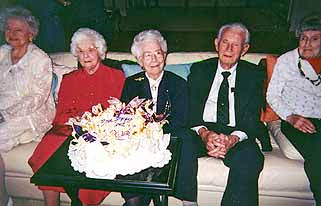 Centenarians party goers